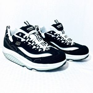 Skechers Shape Ups In Black and White
